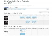 NEWS | 2015 Ibiza Spotlight party calendar online